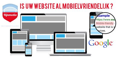 Is uw website al mobielvriendelijk